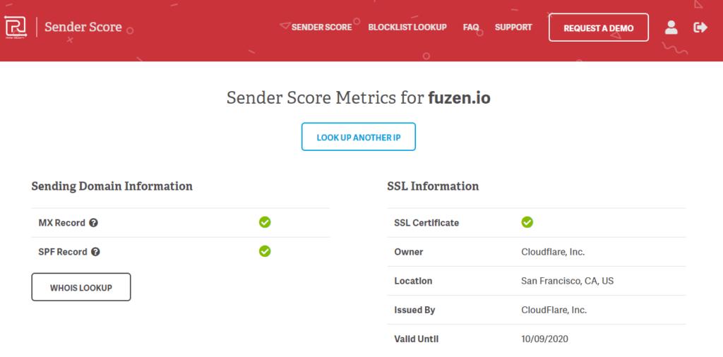 check sender score on senderscore.org