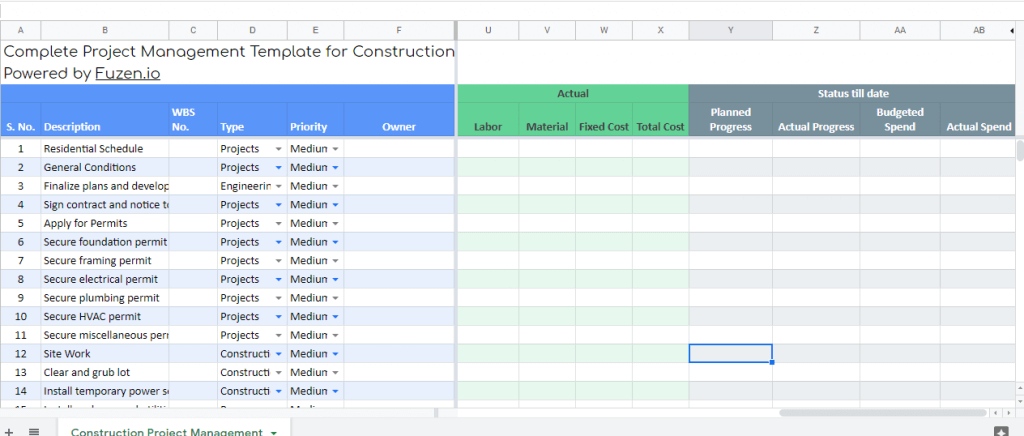 construction report template - overall project health