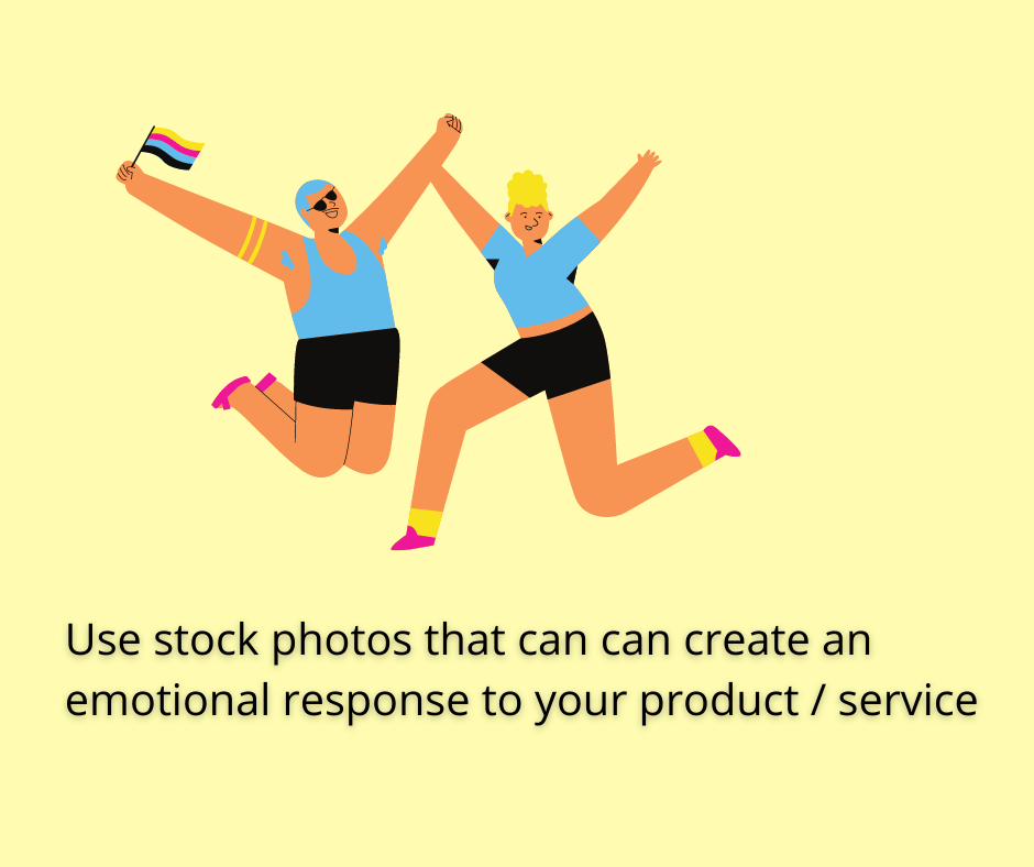 use stock images for emotional triggers in emails
