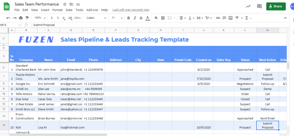 sales pipeline tracking excel template