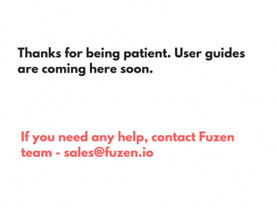 User guides coming soon